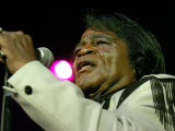 Soul Legend James Brown in Action at the Carling Academy in Glasgow, June 2004 Fotografisk tryk