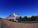 Amtrak Train at Marias Pass, Montana, USA Photographic Print by Chuck Haney