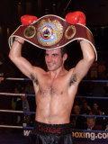 Boxer Joe Calzaghe Celebrates After Winning Fotografisk trykk