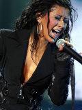 Christina Aguilera in Concert at the NEC, Birmingham Fotografie-Druck