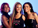 The World's Biggest Girl Group Destiny's Child at the Houston Film Studio in Texas Fotografisk tryk