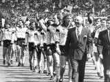 Coventry City FC Team Enter the Arena in Readiness For the Start of the FA Cup at Wembley Reproduction photographique