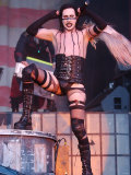 Singer Marilyn Manson on Stage at the Gig on the Green Festival at Glasgow Green Reproduction photographique