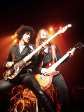 Thin Lizzy with Lead Singer of Phil Lynott Fotografisk tryk