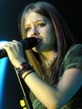 Avril Lavigne Singing at the Barrowlands. March 2003 Photographic Print