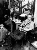 John Lydon British Pop Singer Punk Group Sex Pistols 1977 Backstage in Arnham Fotografisk tryk