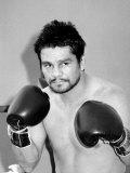 Roberto Duran Boxer in Palm Springs, October 1983 Lámina fotográfica