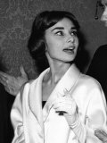 Actress Audrey Hepburn at the Plaza For the Premiere of the Film War and Peace 1956 Photographic Print