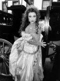 British Actress Jane Seymour in 1986 Wearing Emanuel's Dress Photographic Print