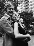 Film Get Carter, Michael Caine and Britt Ekland Pose For Photographers During a Break in Filming Valokuvavedos