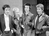 Sex Pistols Punk Rock Band in a London c.1976 Fotografisk tryk