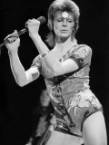 David Bowie Performing on Stage 1973 Reproduction photographique