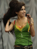 Amy Winehouse at the Glastonbury Festival June 2007. Glastonbury Festival Fotografisk tryk