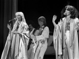 Abba Swedish Pop Band on Stage at Wembley Arena, November 1979 Fotoprint