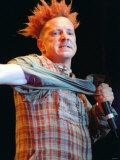 John Lydon of Sex Pistols Pop Group at SECC Glasgow Tearing Off Sleeve Photographic Print