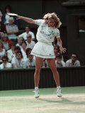 Wimbledon Semi Final. Steffi Graf V. Pam Sheiver. June 1988 Reproduction photographique