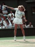 Wimbledon Semi Final. Steffi Graf V. Pam Sheiver. June 1988 Fotografisk trykk