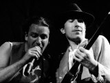 Bono and the Edge Onstage During U2's Concert in Cork Photographic Print