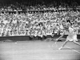 Wimbeldon Women's Singles Miss L Brough vs Miss du Pont, July 1949 Photographic Print