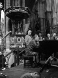 Duke Ellington and His Orchestra October 1973 Rehearsing For a Concert at Westminister Abbey Photographic Print