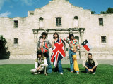The Rolling Stones June 1975 , Mick Jagger in Alamo, Texas. Usa Stampa fotografica