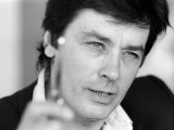 Alain Delon, portrait, mai 1983 Reproduction photographique