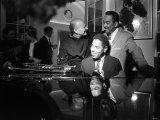 Dizzy Gillespie Jazz Man at Fort Belvedere Near Ascot with Buck Clayton and Bud Freeman Fotoprint