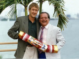 """Nicholas Lyndhurst Actor on Set For """"Only Fools and Horses"""" with David Jason Photographic Print"""