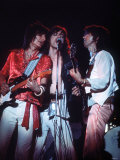 The Rolling Stones Concert June 1975 , Mick Jagger, Ronnie Wood and Keith Richards Stampa fotografica