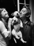 Jane Birkin and Serge Gainsbourg May 1972 at Their Paris Luxury Home Fotografisk tryk