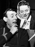 Eric Sykes Comedian and Actor with Hattie Jaques Actress Rehearsing a Sketch For a TV Show Photographic Print