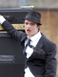 Pete Doherty Records the Video For a Babyshambles Single, Filmed at Spitalfields Farm, June 2005 Photographic Print