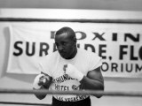 Training Shots Leading Up to Boxing Heavyweight Title Fight Between Sonny Liston and Cassius Clay Fotografie-Druck