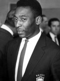 Brazilian Football Star Pele in England For the 1966 World Cup Tournament July 1966 Reproduction photographique