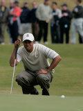 Tiger Woods, British Open 2004 im Royal Troon Golf Club Fotografie-Druck