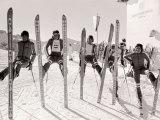 1976 Olympic Games British Ski Team Reproduction photographique