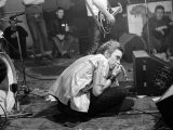 Johnny Rotten- Lead Singer with the Sex Pistols Performing in Holland Fotografisk tryk