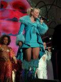 Baby Spice Emma Bunton September 1998 of the Pop Group Spice Girls on Stage in Concert Singing Fotografie-Druck