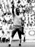 World Cup Group 3 Match in Guadalajara Mexico. 7th June 1970 England 0 Vs Brazil 1, Brazil's Pele Fotografisk tryk