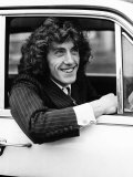 The Who Pop Group Member Roger Daltrey Sitting in Car Photographic Print