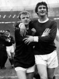 Jim Baxter Scotland Football Player Hugs Billy Bremner After Defeating England at Wembley Stadium Photographic Print