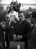 Ingemar Johansson 1959 World Heavyweight Boxing Champion at Manchester Airport Carrying Briefcase Photographic Print