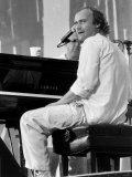 Phil Collins Pop Singer at Live Aid Concert 1985. Jfk Stadium Philadelphia Fotografisk tryk