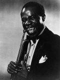 Louis Armstrong Jazz Trumpeter with Trumpet in 1945 Reproduction photographique
