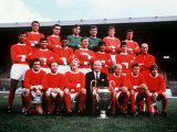 Manchester United 1968 Football Team with European Cup Fotografisk trykk