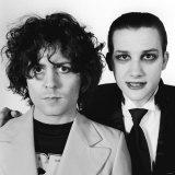 Marc Bolan 29 Years Old and Dave Vinian of the Damned Fotografisk tryk