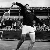 British Tennis Player Gerald Battrick in Action at the Bournemouth Tennis Tournament, April 1970 Photographic Print