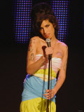 Amy Winehouse Performs at the 2007 Mercury Music Awards at the Grosvenor Hotel in Central London Fotografisk tryk