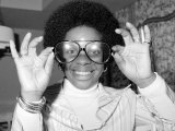 American Soul Singer Gladys Knight Poses For a Picture at Inn on the Park in London April 1976 Fotografisk tryk