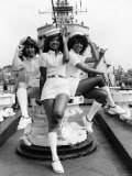 """Three Degrees"" Who Will TPP Bill at a Mountbatten Gold Evening to Drury Lane Aboard HMS Belfast Fotografisk tryk"